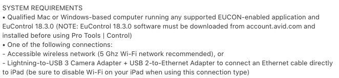 iTunes Store PT Control System Requirements