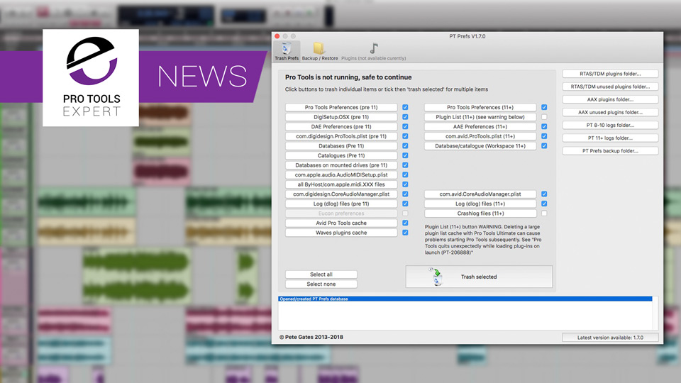 Pete Gates Releases 64 Bit Version Of PT Prefs App For Mac Users