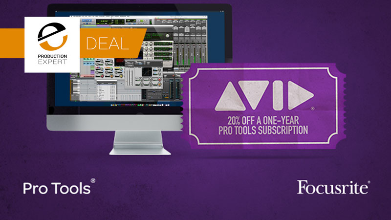 Avid Offer Exclusive 20% Discount On Pro Tools Software For All Registered Focusrite Users