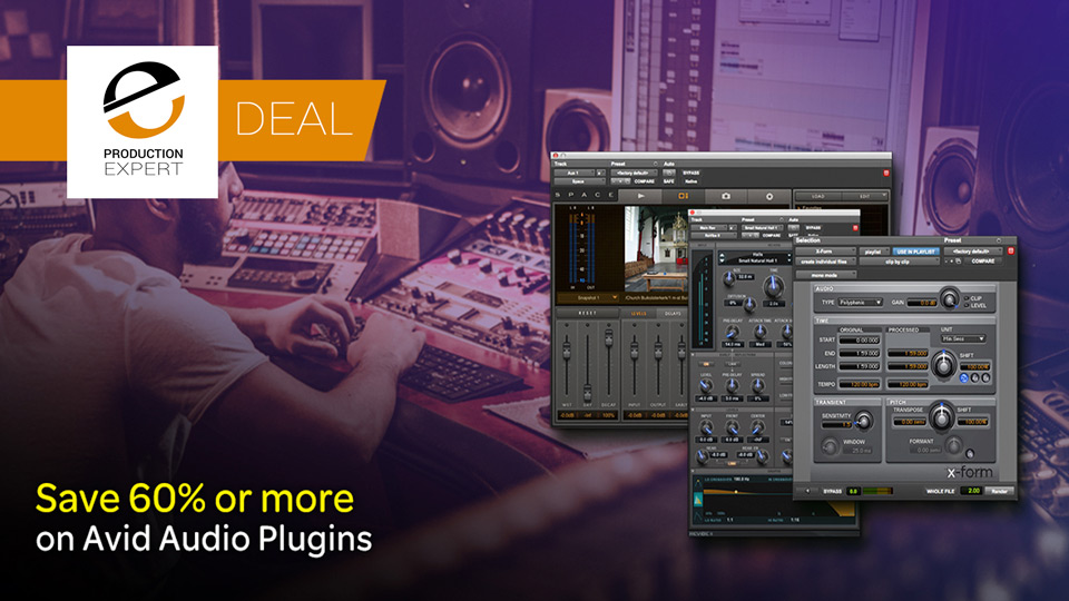Avid Offer At Least 60% Discount On Selected Avid Pro Tools Plug-ins Until January 31st 2019