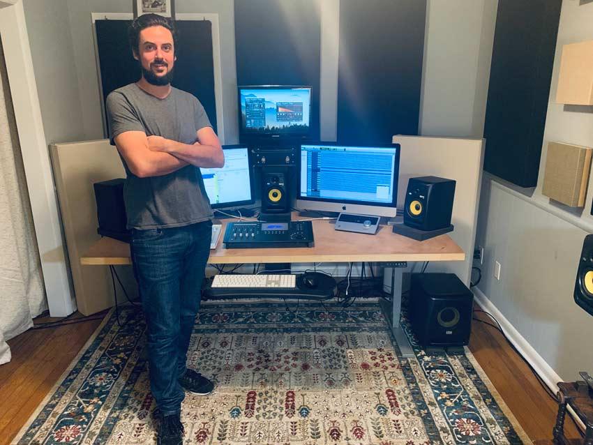 Matt Schultz in his studio