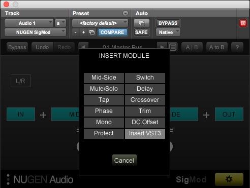 Nugen Audio SigMod Module List
