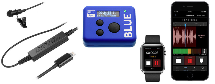 Apogee ClipMic Digital With Blue UltraSync Timecode Unit Package