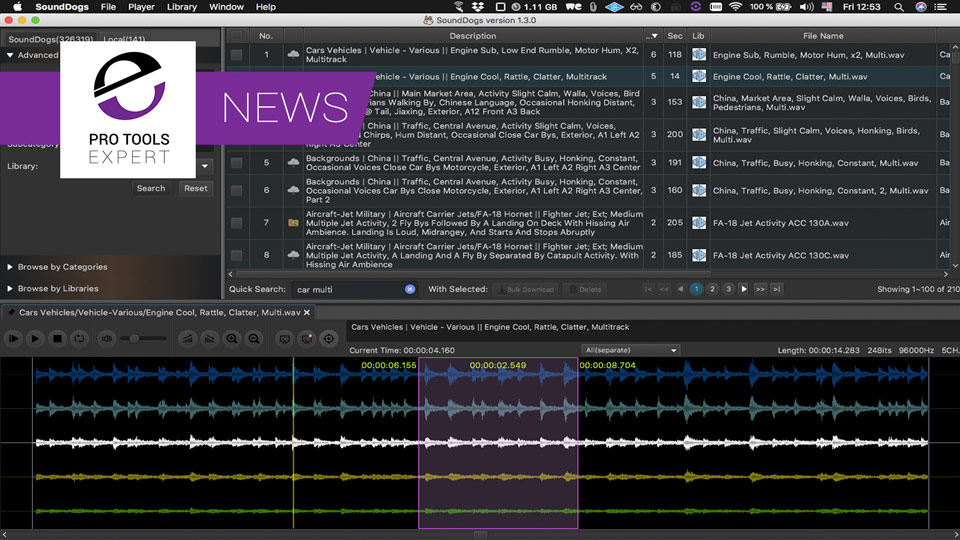 Sounddogs Release Free Sound Effects Librarian Application With Spot To Pro Tools