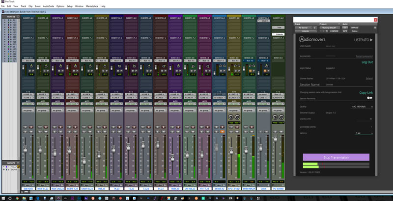 The full Pro Tools Drum Session With Stereo Backing Track Set Up To Feed Into ListenTo