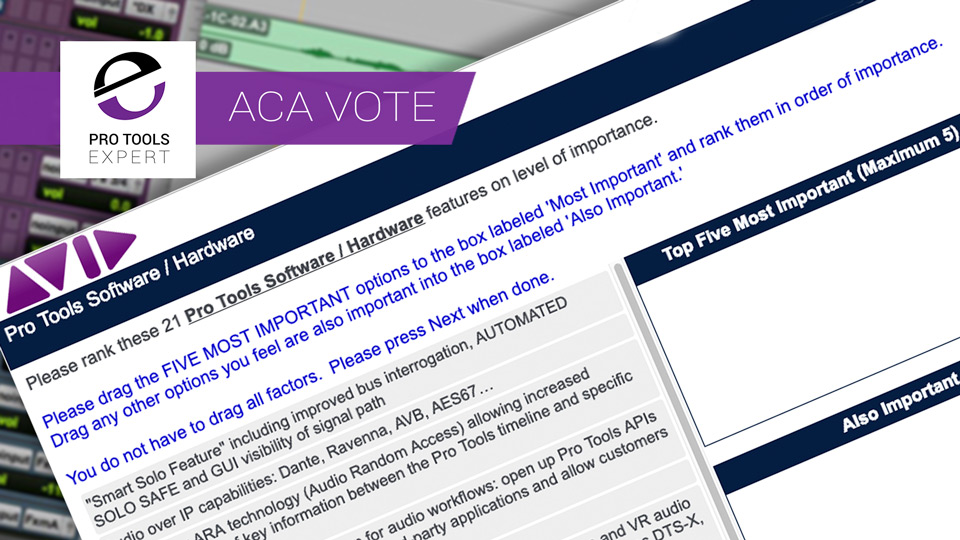 Avid Offer 21 New Feature Suggestions For Pro Tools In ACA Vote. We Take A Look At What They Could Mean For Users.