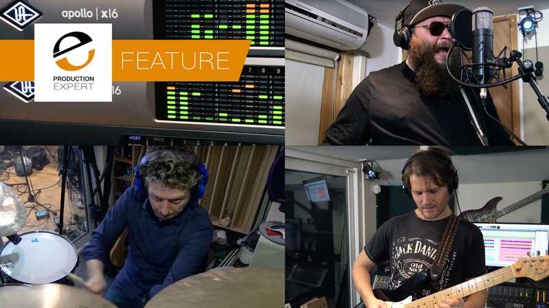 Recording A Band Using Two Universal Audio Apollo X16 Audio