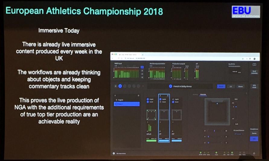 European Athletics Championship Dolby Atmos and Object Based Audio Setup