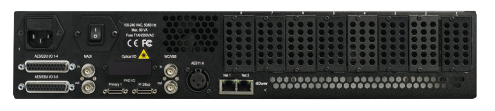 Avid Pro Tools MTRX Base Unit Back Panel