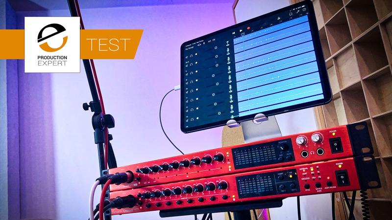 Recording Multitrack To An Apple iPad Pro Using Focusrite Clarett