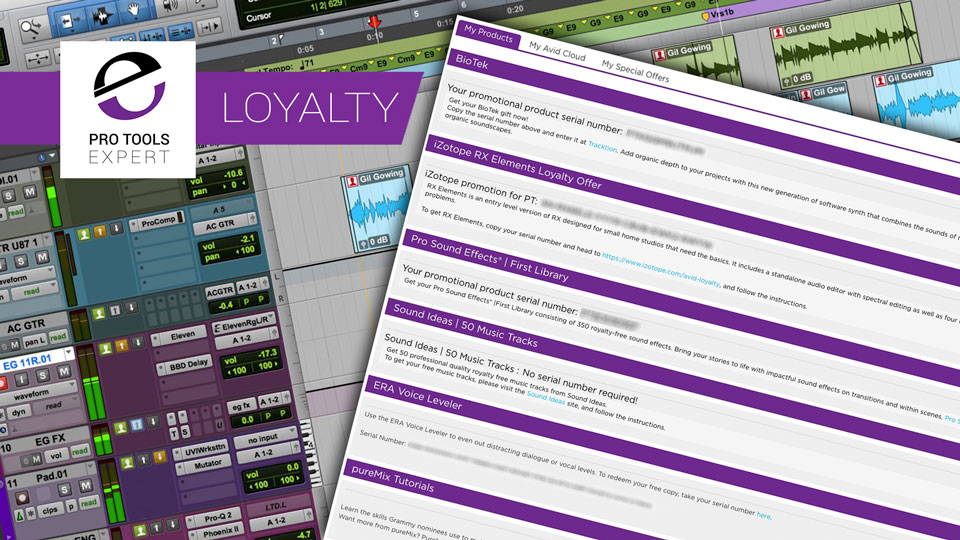 Avid Offer Loyalty Rewards Worth About $900 To Pro Tools Users With An Active Subscription Or Upgrade Plan