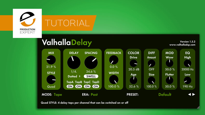 Multi-Tap Delay Tutorial - What Is The Quad Style In Valhalla Delay? | Production Expert