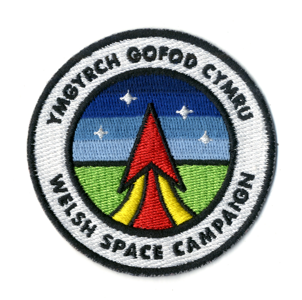 Welsh Space Campaign emblem by Aron Jones.