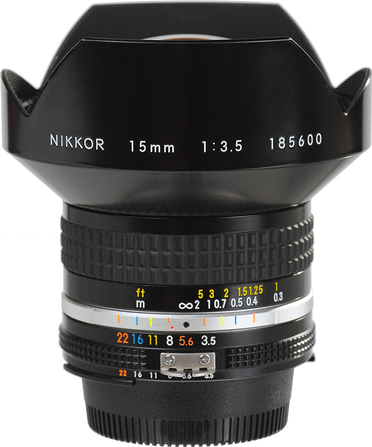 15mm f3.5 Nikkor  Day:25  $   Week:75  $