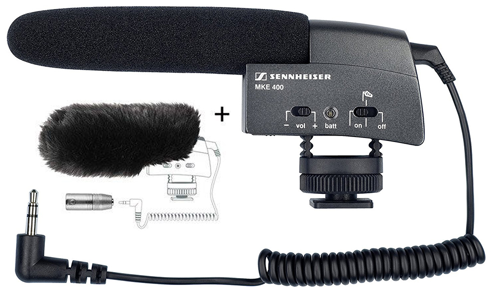 SENNHEISER MKE400 MICROPHONE  Day:15$   Week:45  $       LINK-INFO     LINK-PDF-MANUAL