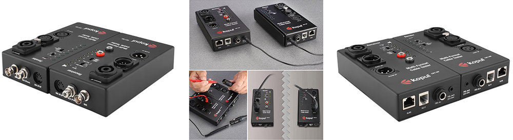 Kopul CBT-MF Multi-Function Cable Tester with Dual Chassis  Day:5$   Week:15$     LINK-INFO