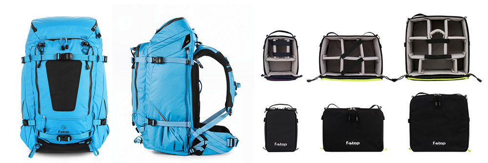 F-Stop Pro Back Pack SHINN 80L Dual access ICU. Medium, Smal,l Macro, ICU ( Internal Camera Units)   Day:25$   Week:75  $   LINK-INFO