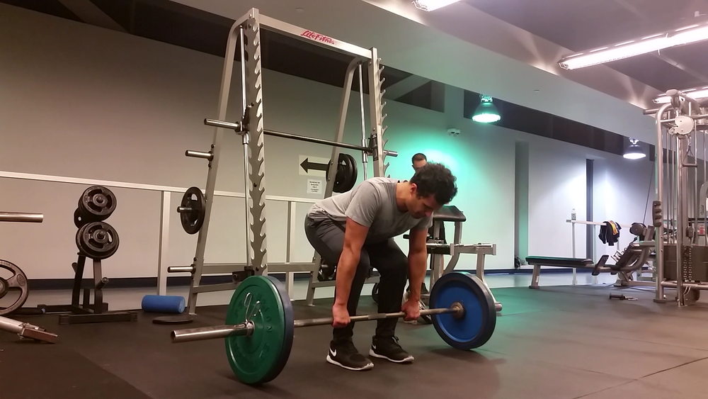7. Inhale and grab the bar  8. Roll shoulders back  9. Engage the upper back