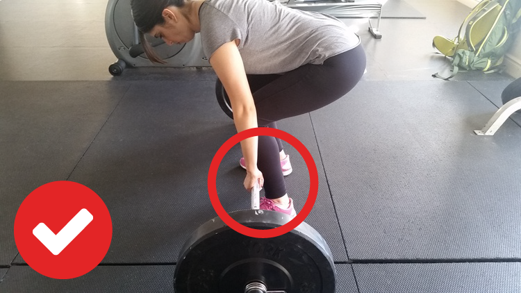 Barbell Deadlift Barbell Close to The Shins