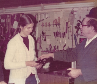 1976 - During my apprenticeship with Wendell Eaton