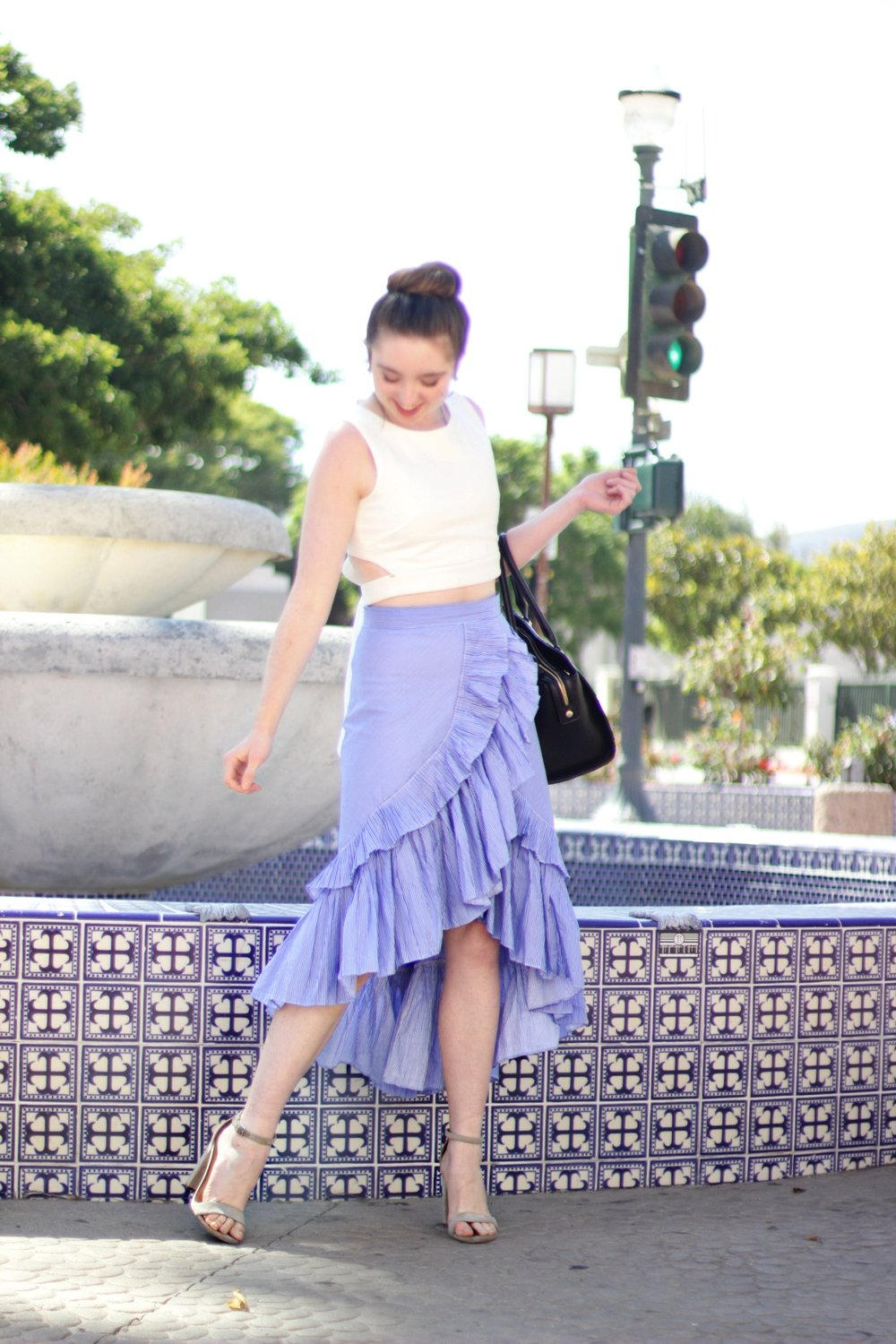 MAKE A SPLASH WITH CHICWISH - CRUSHING ON A RUFFLED WATERFALL SKIRT FROM CHICWISH