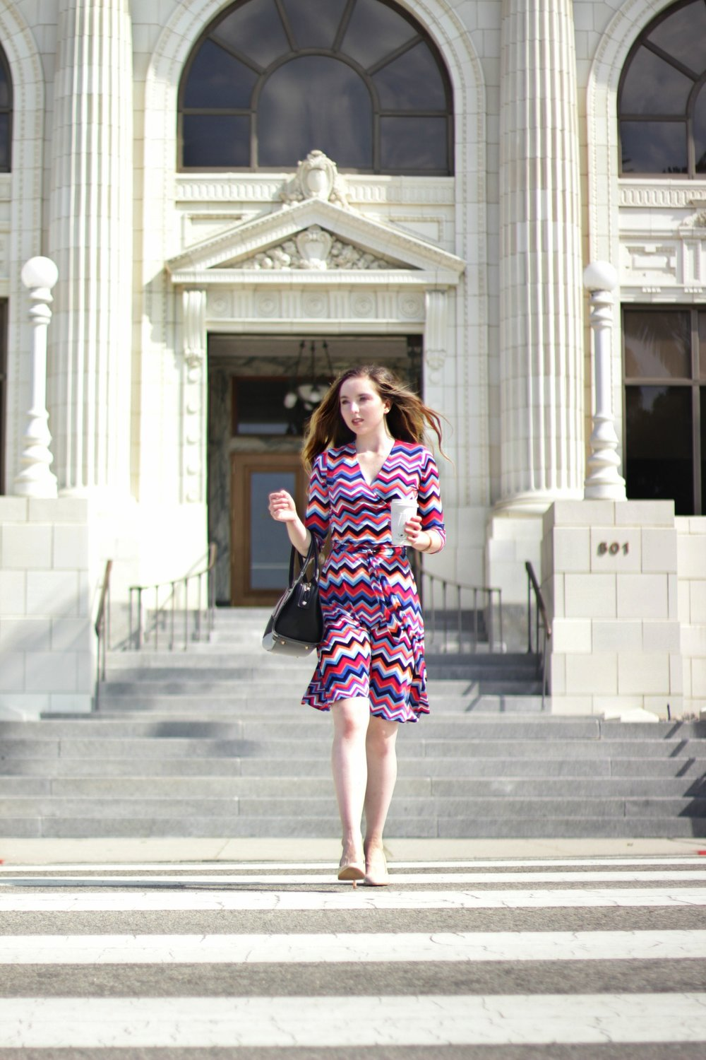 WRAP UP LOSE ENDS WITH AN EASY BREEZY WRAP DRESS - SHOP MY FAVORITE WORK WARDROBE STAPLE BY LEOTA