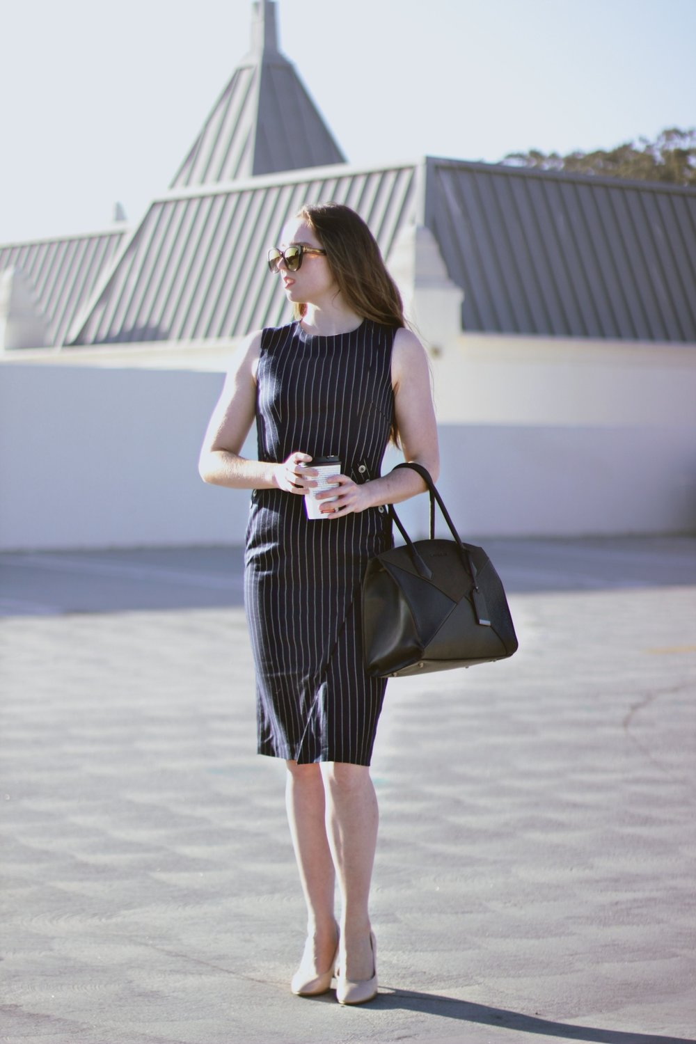 SLAY THE MONDAY - IN A SLIM FITTING SUIT DRESS