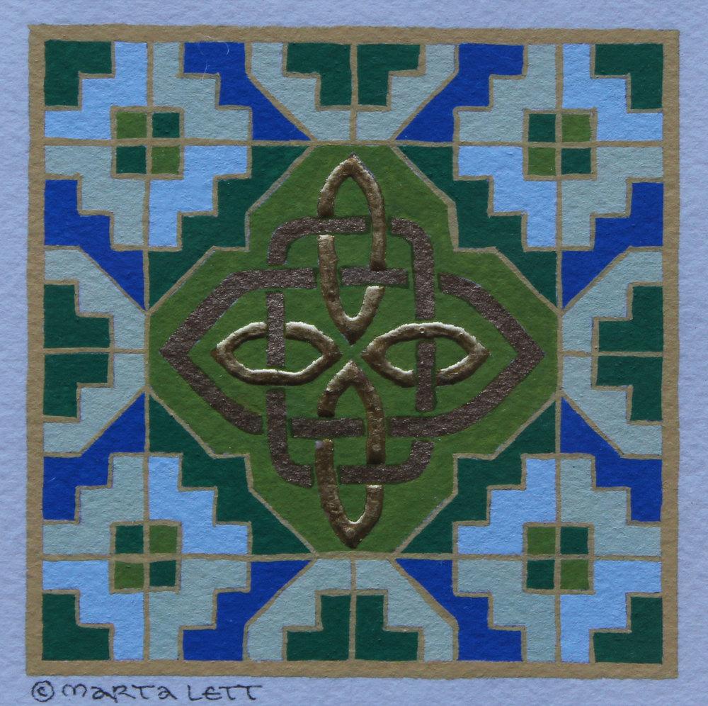Celtic Step & Knot miniature