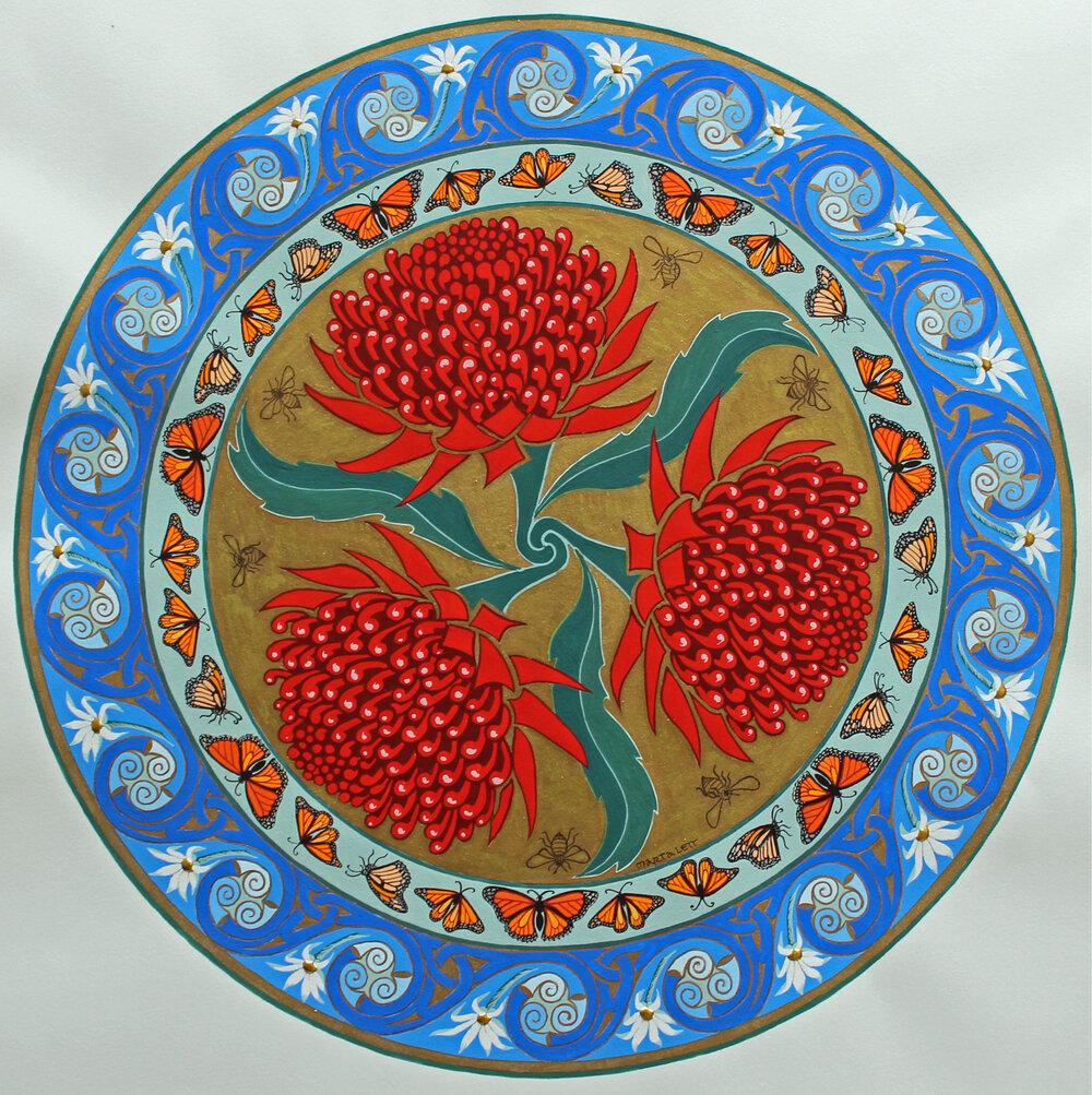 Triptych Waratah Bouquet
