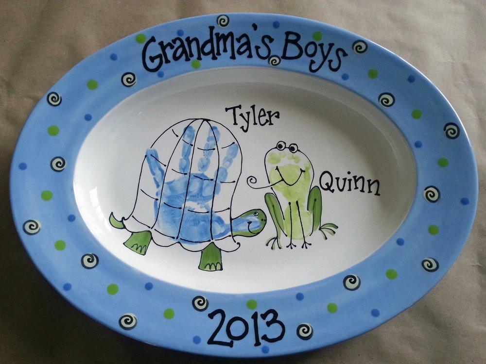 grandma's boys handprint platter.jpg