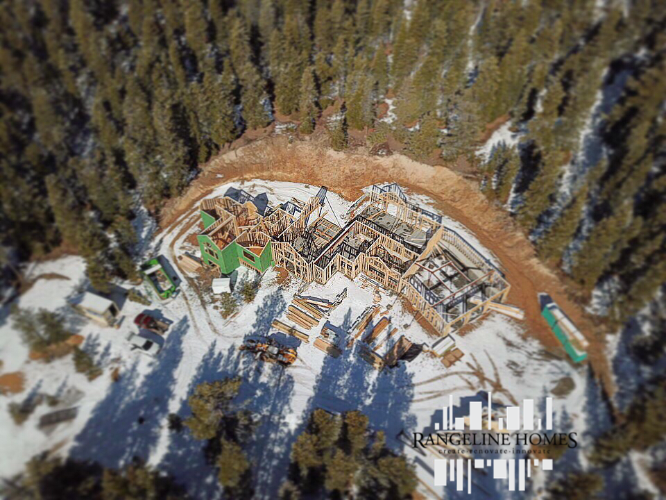 Framing progress picture from the sky!