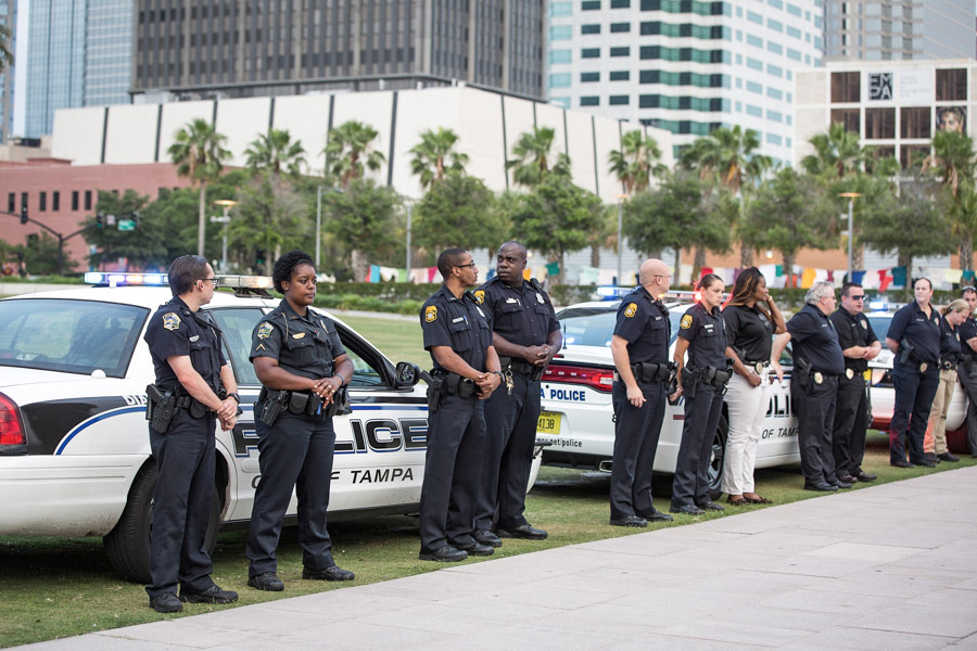 Tampa Bay police enforcement supporting Taken Back The Night  2015