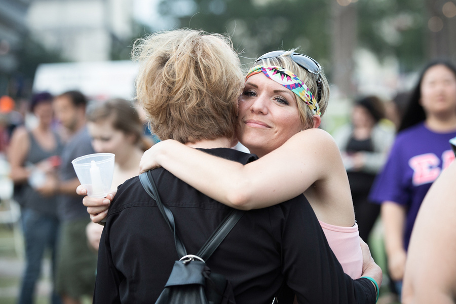 Women hugging to support each other