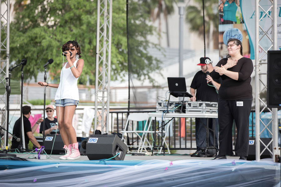 Dynasty YaGyrl performing at the Take Back The Night 2015 in Tampa
