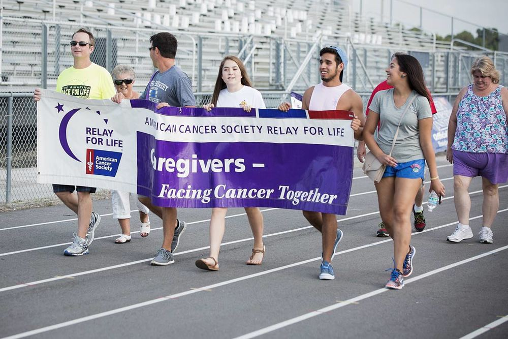 Caregivers walking in honor of cancer victims