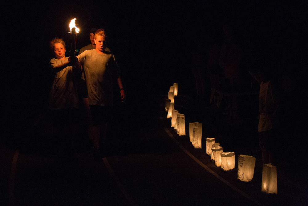 Luminaria ceremony at Relay for Life in Westchase 2015