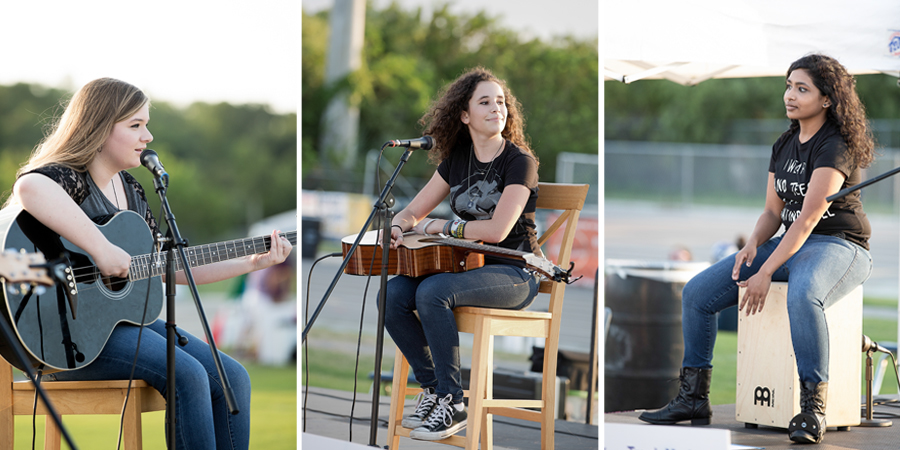 Music band at the Relay for Life Westchase 2015