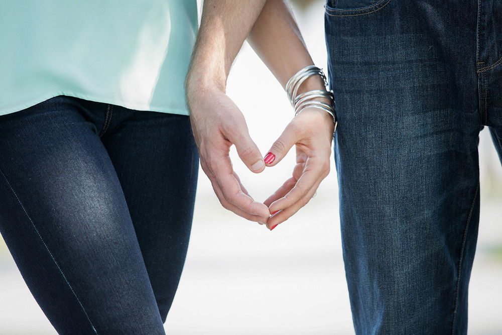 Close up photo of heart-shaped hands