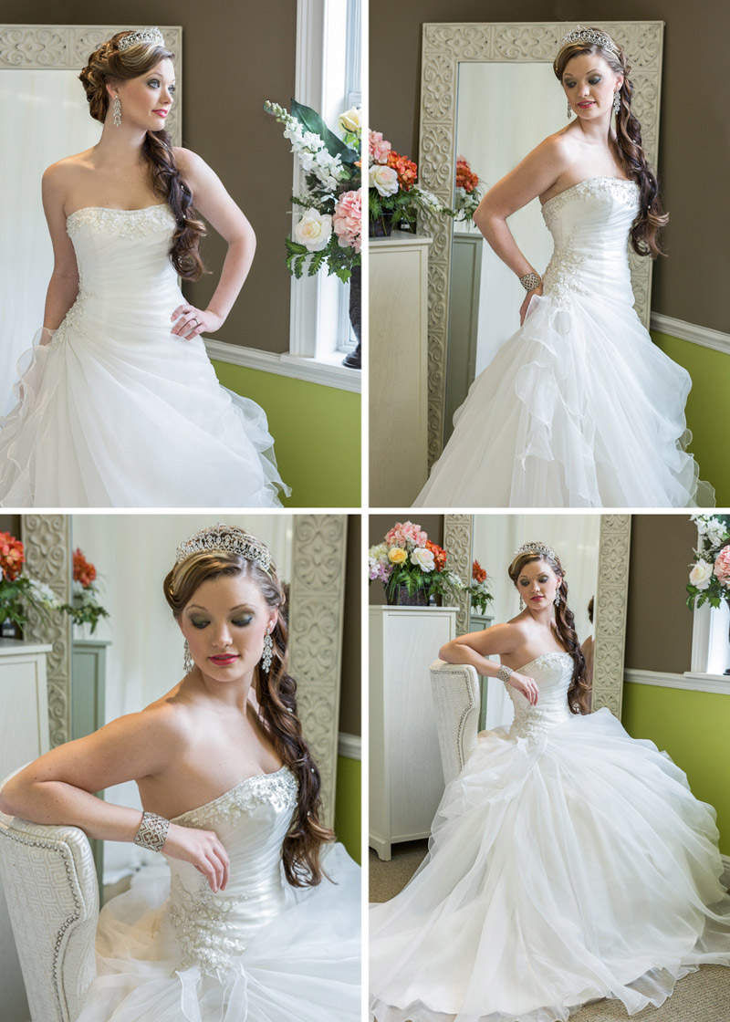 Gorgeous wedding dress worn by a bride to be