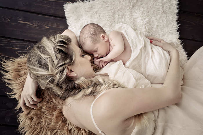 Mommy & Me | Sweet Newborn Session in New Tampa