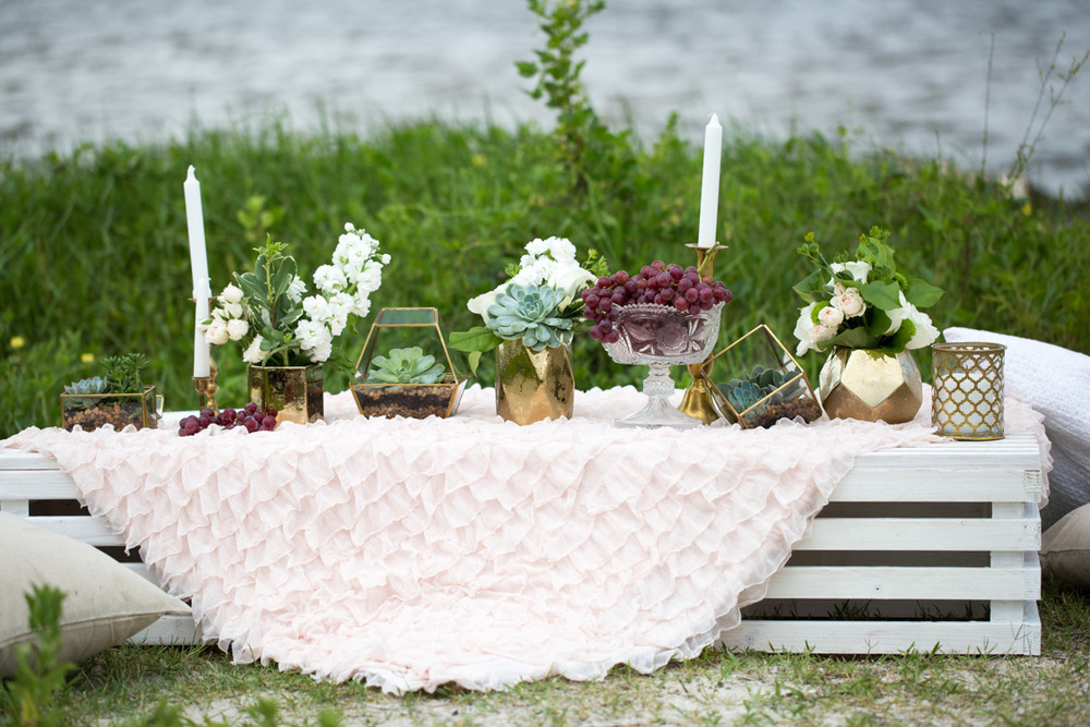 Beautiful boho styled set up