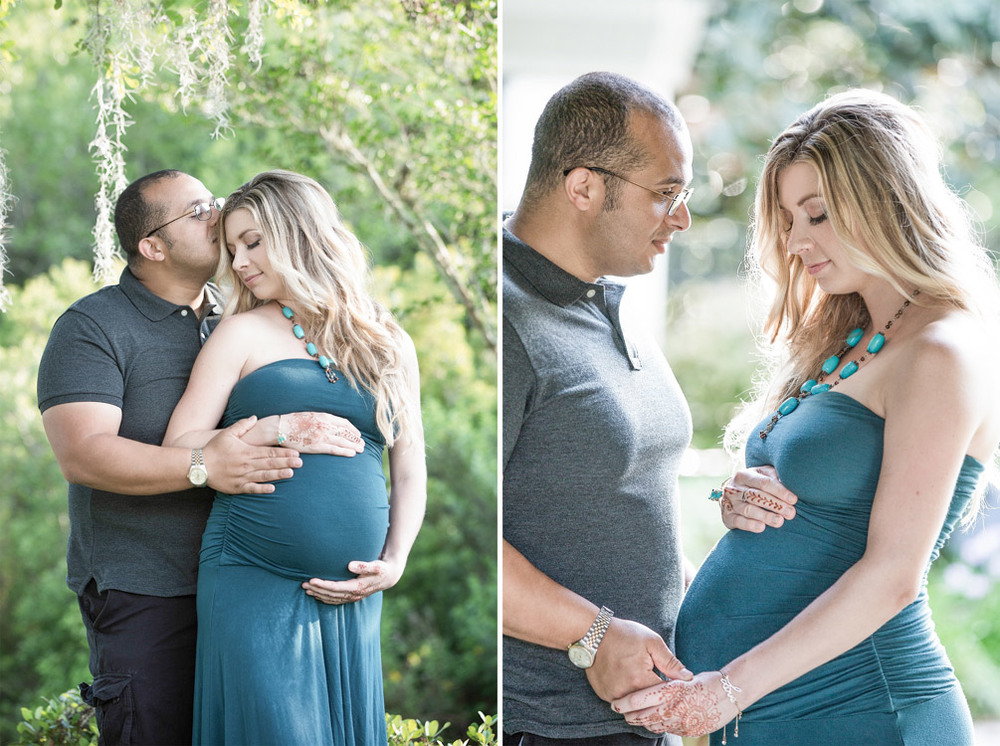 First time parents at the maternity session