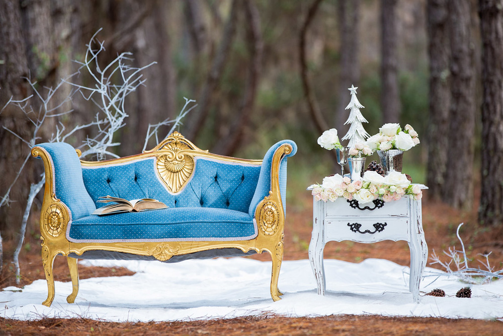 Winter set up by Ever After Vintage Weddings