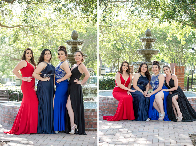 Beautiful girls on their prom night