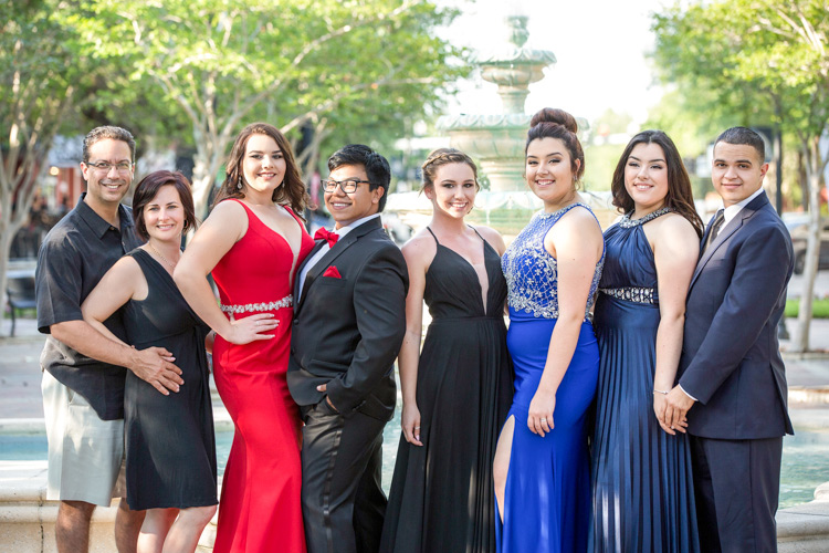 Group picture before prom night