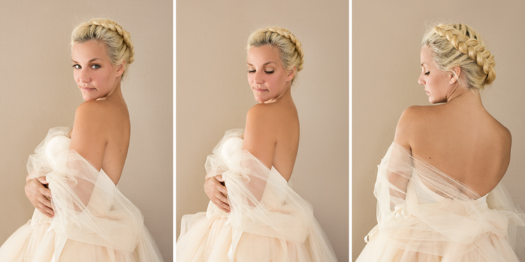Stunning photos of a blond lady in soft tulle