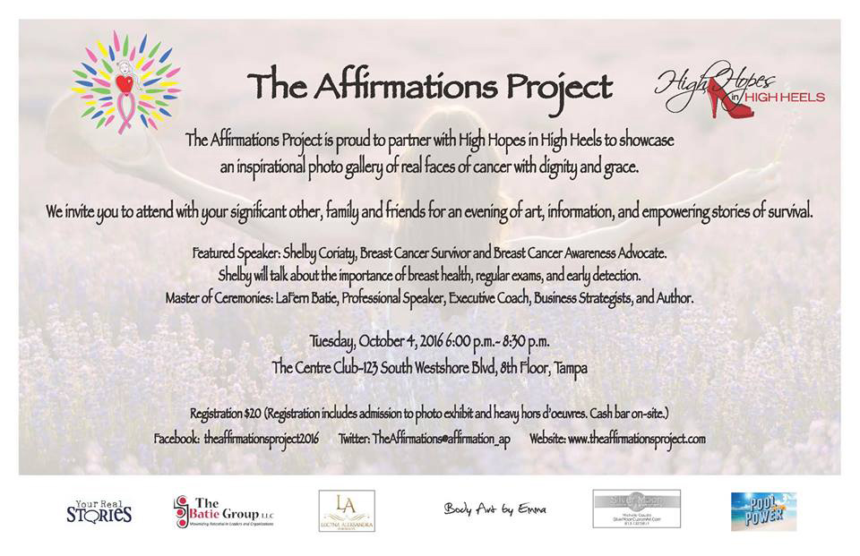 Details regarding Affirmations Project event