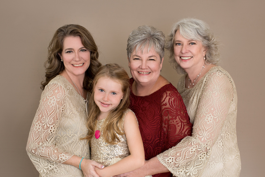 Beautiful legacy portrait of three generations
