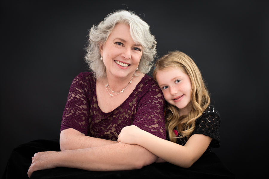 Grandmother and her granddaughter portrait