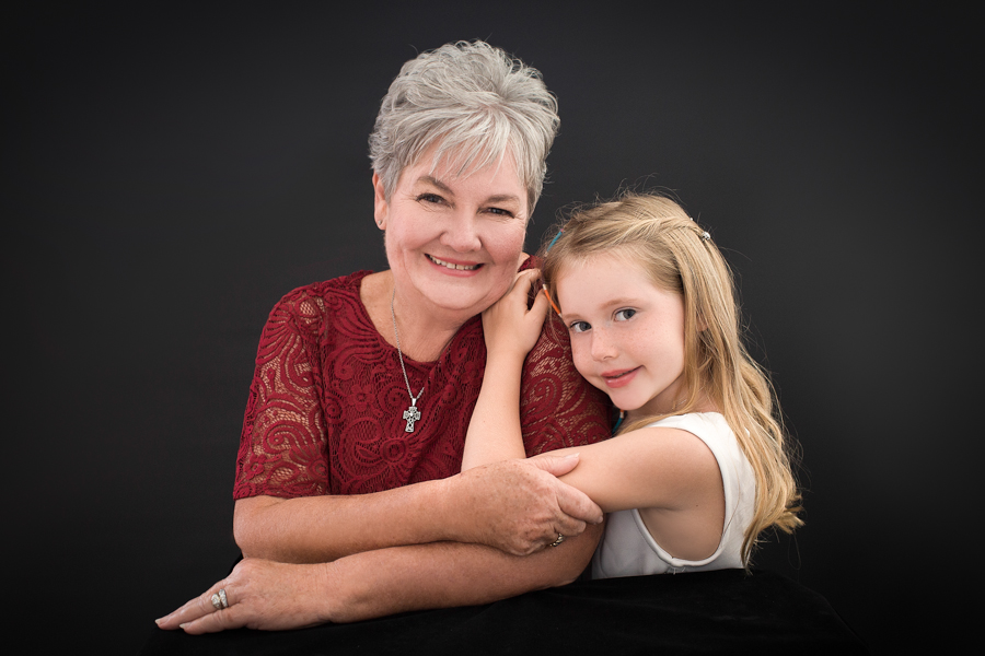 Grandmother and her granddaughter photograph